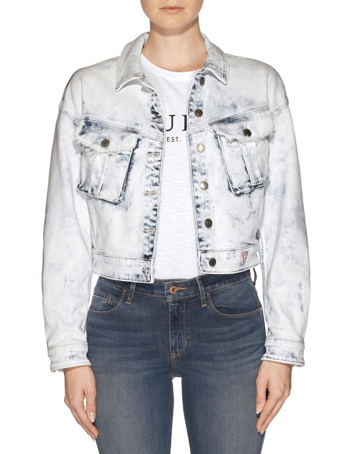 Cinched Waist Denim Jacket image 1