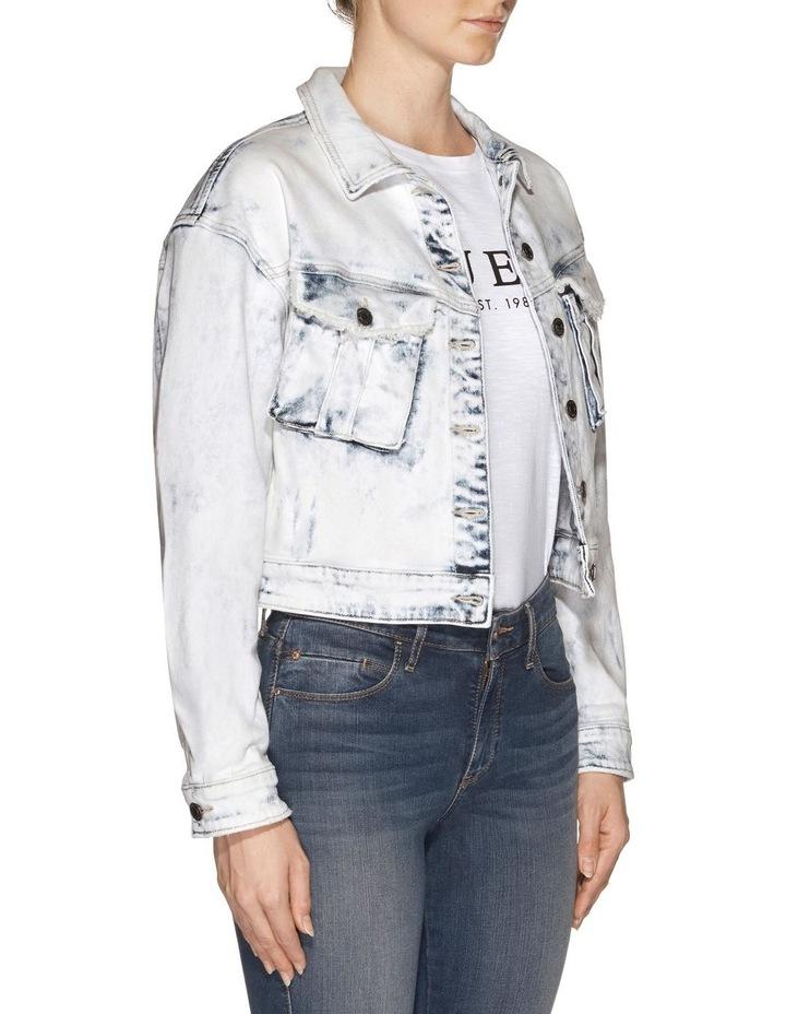 Cinched Waist Denim Jacket image 3