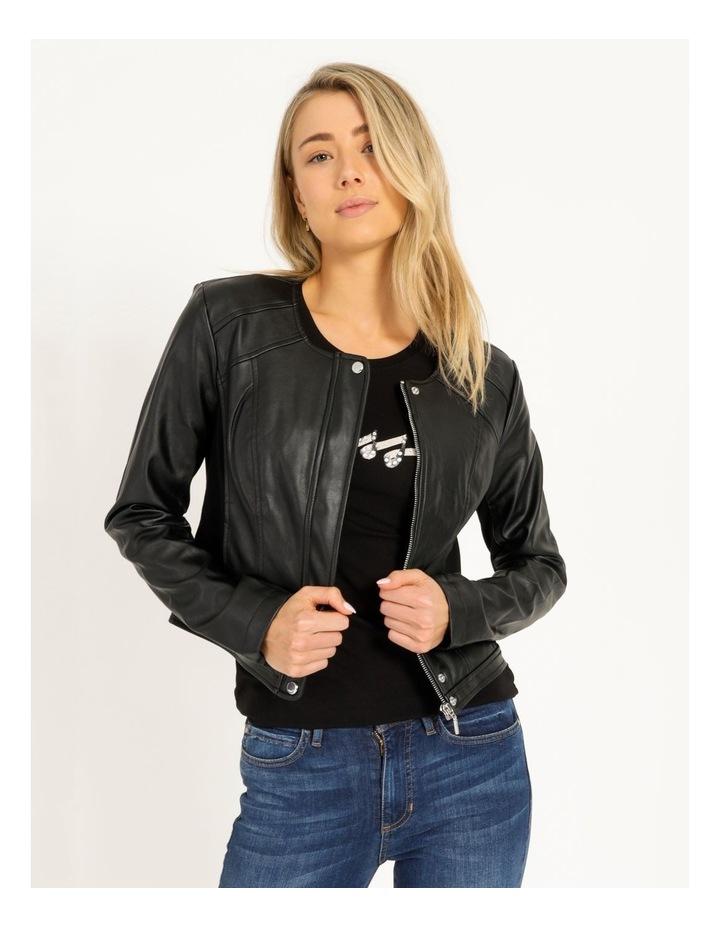 Long Sleeve Viper Faux Leather Jacket image 1