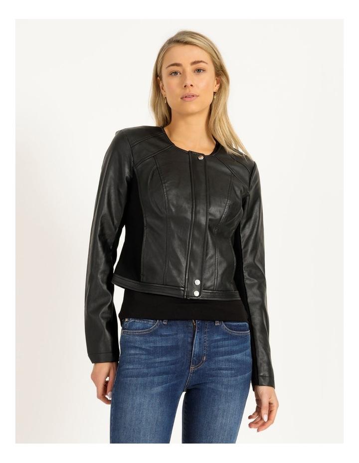 Long Sleeve Viper Faux Leather Jacket image 2