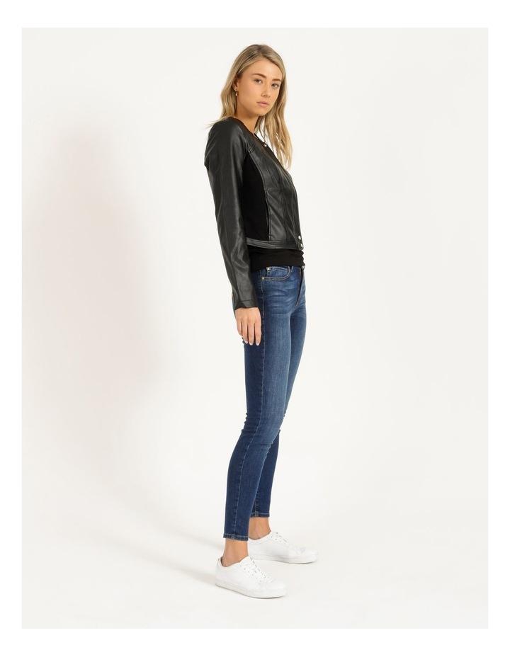 Long Sleeve Viper Faux Leather Jacket image 3