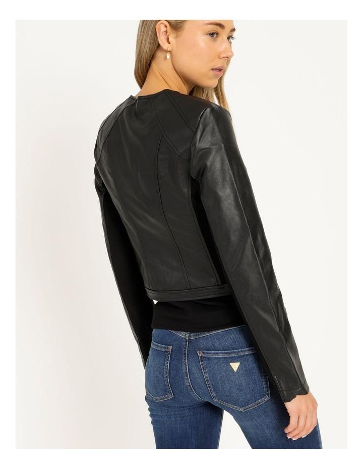 Long Sleeve Viper Faux Leather Jacket image 4