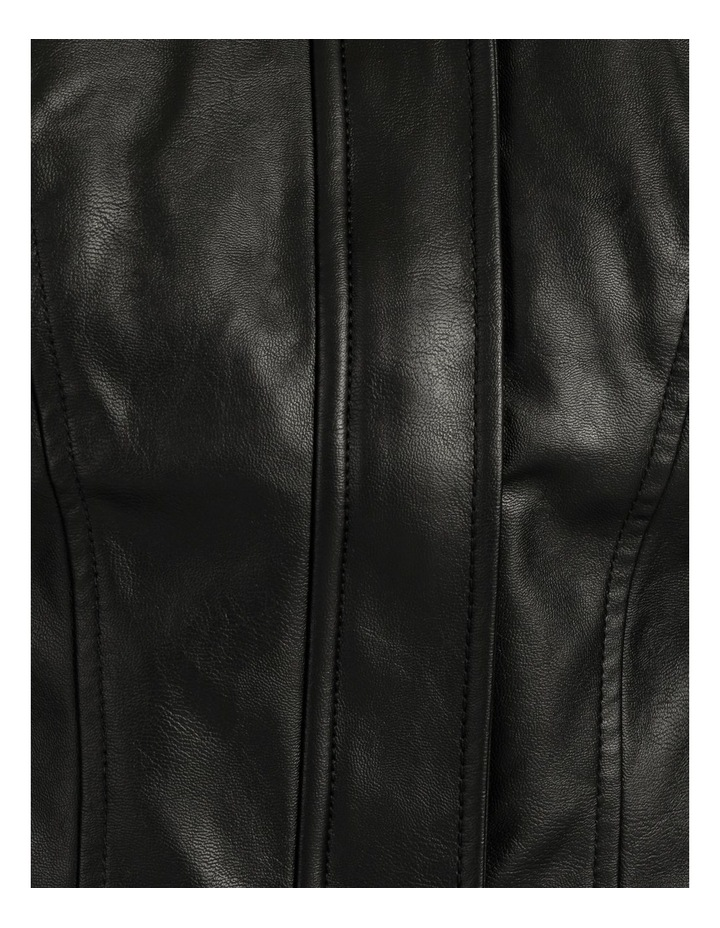 Long Sleeve Viper Faux Leather Jacket image 6
