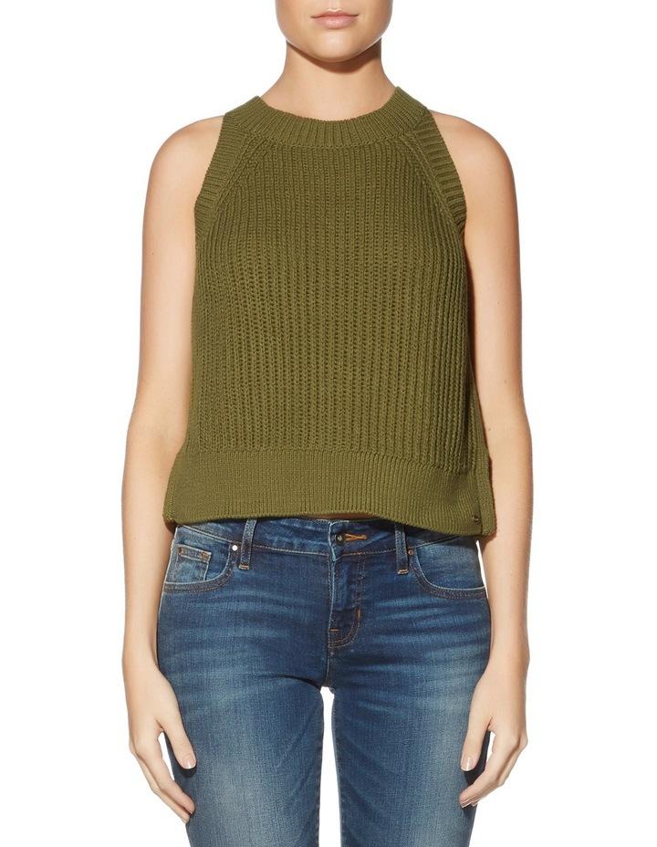 Sleeveless Carlie Crop Sweater image 1