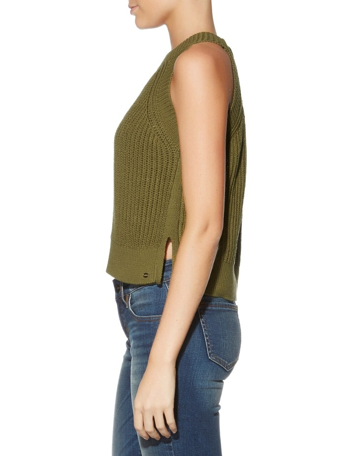 Sleeveless Carlie Crop Sweater image 3