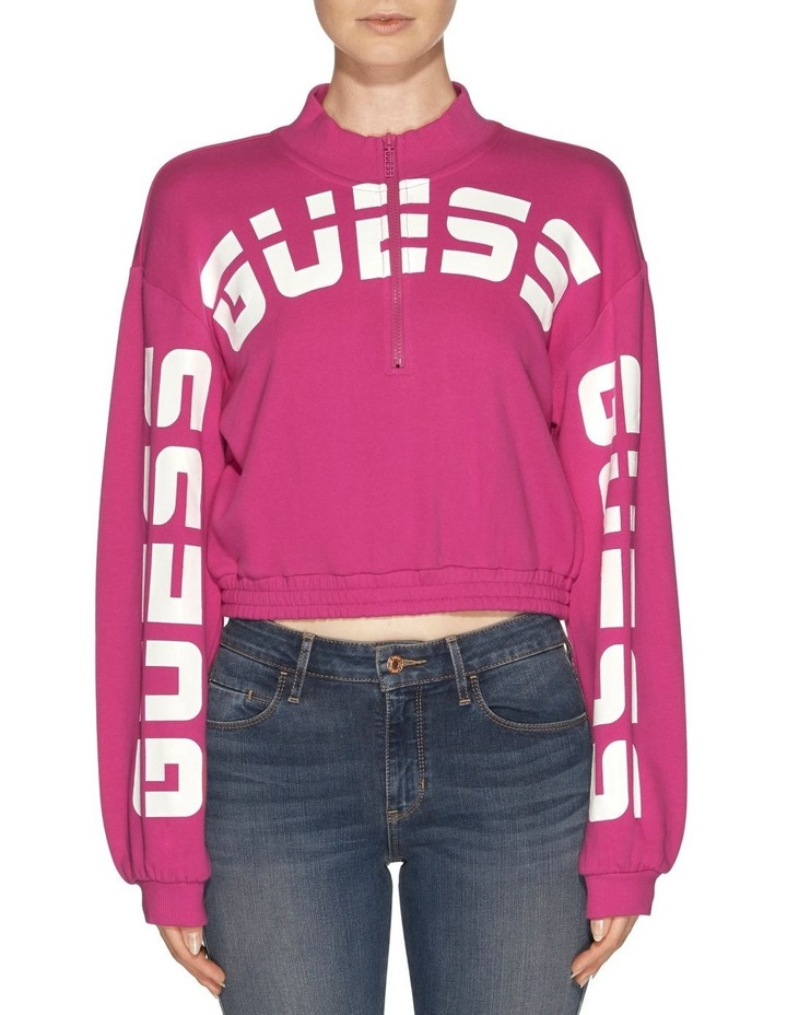 Long Sleeve Amber Curved Logo Pull Over image 1