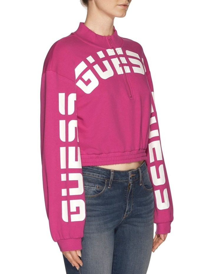 Long Sleeve Amber Curved Logo Pull Over image 2