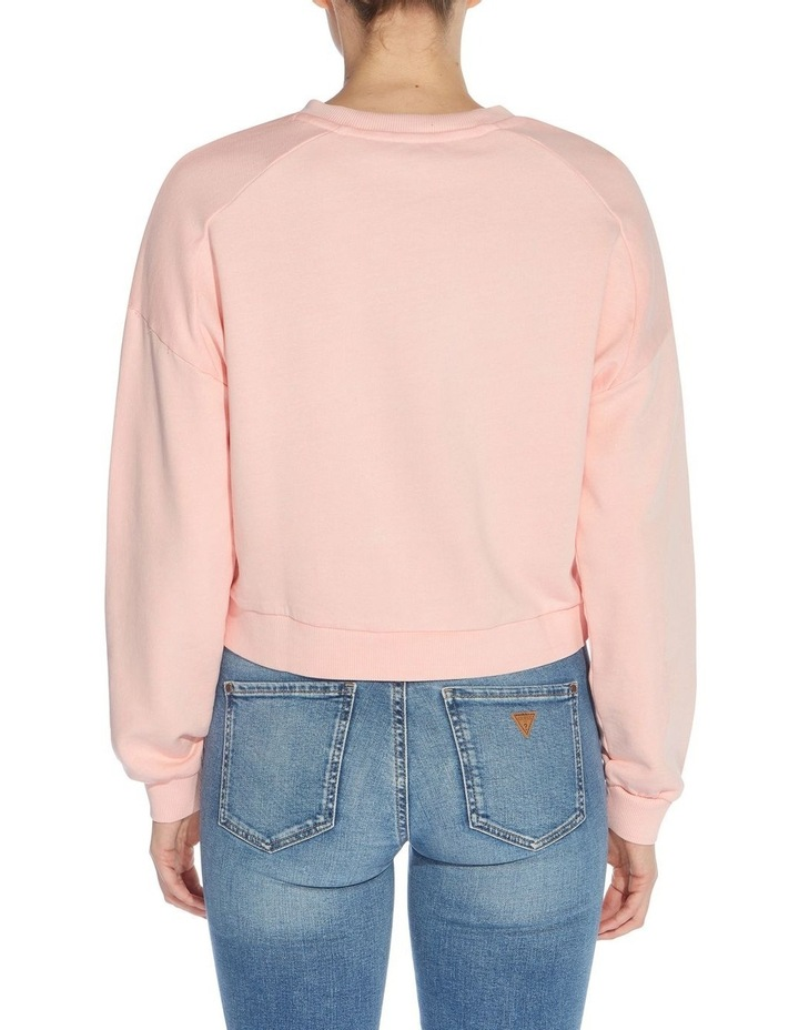 Linked Up Pink Lace Multicoloured Long Sleeve Sweat Top image 2