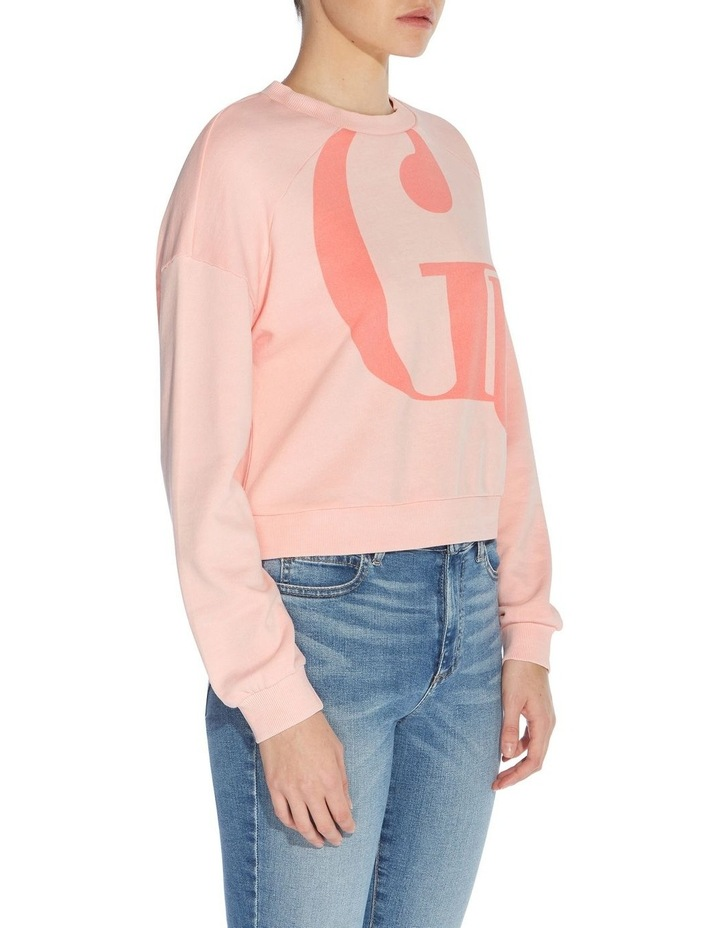 Linked Up Pink Lace Multicoloured Long Sleeve Sweat Top image 3