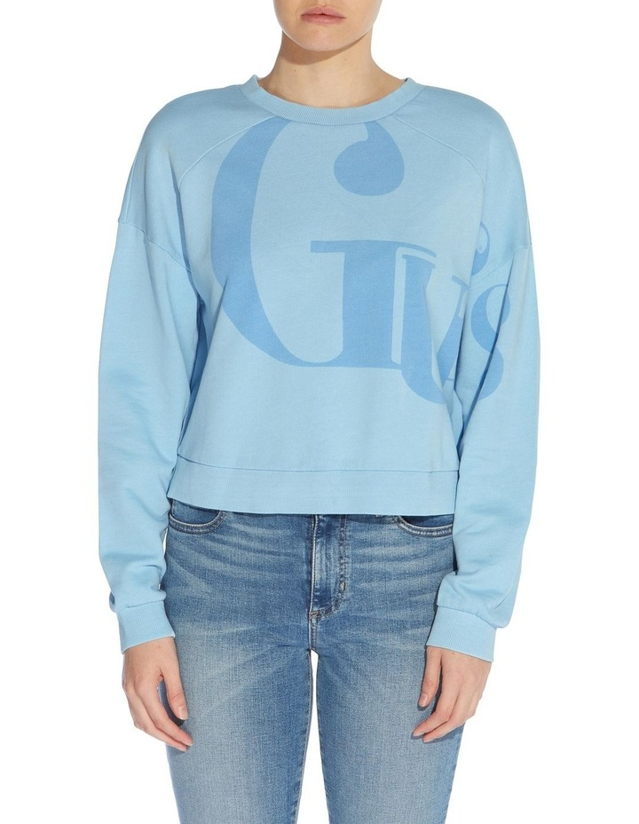 Linked Up Bleached Blue Multicoloured Long Sleeve Sweat Top image 1