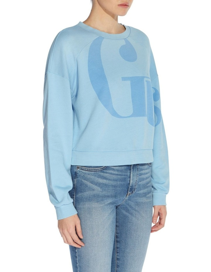 Linked Up Bleached Blue Multicoloured Long Sleeve Sweat Top image 3