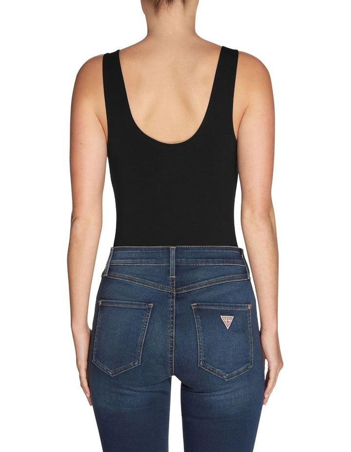 Es Sleeveless Double Scoop Classic Bodysuit Black image 2
