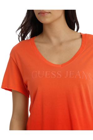 Guess - Short Sleeve Deep V Easy Logo Tee