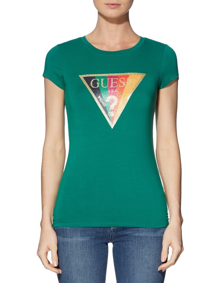 Short Sleeve Rainbow Glitter R3 Tee image 1
