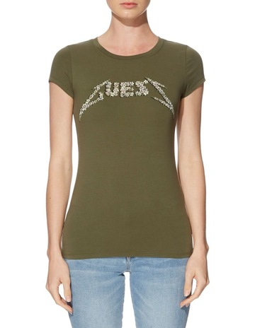 14ce0cd09565 Guess SS DITSY ROCK LOGO R3 TEE. price