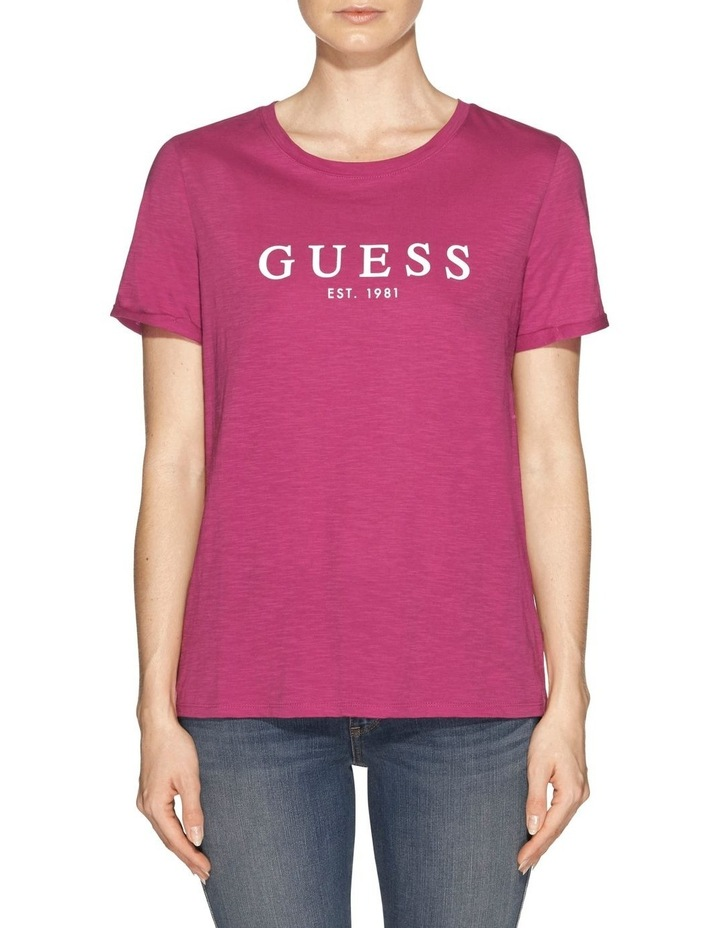 Short Sleeve Guess 1981 Rolled Cuff Tee image 1