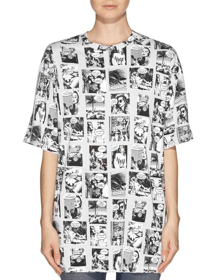 Short Sleeve Comic Girls Oversized Tee image 1