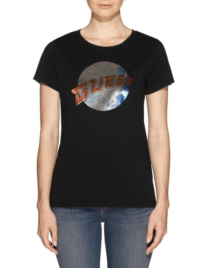 Short Sleeve Guess Planet Logo Easy Tee image 1