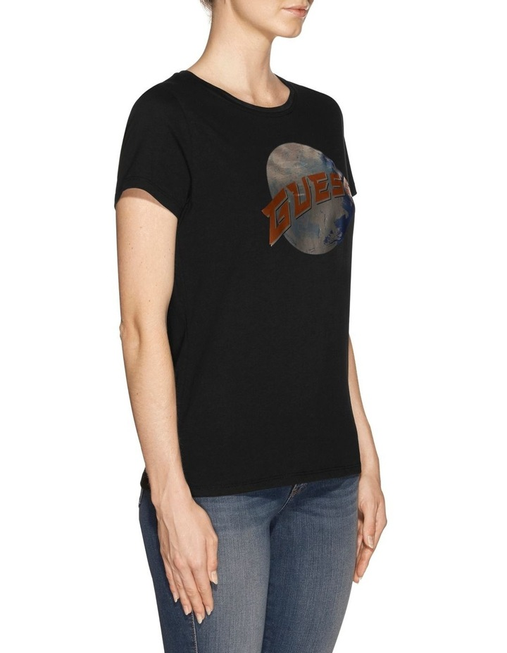 Short Sleeve Guess Planet Logo Easy Tee image 2