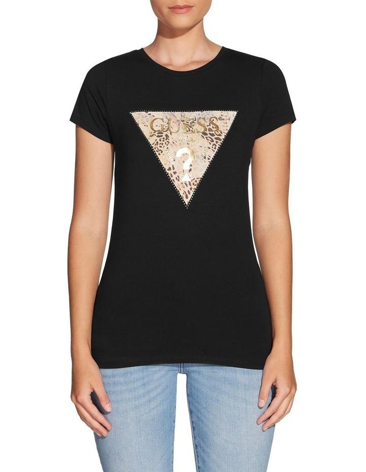 Short Sleeve Ghost Leopard Logo R3 T-Shirt Jet Black image 1