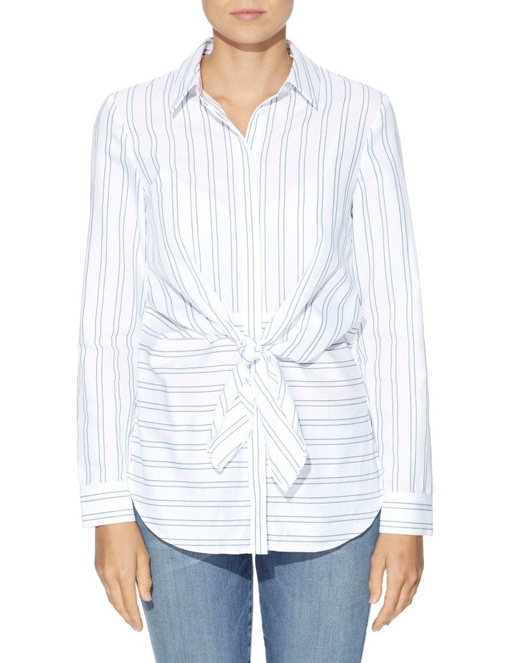 Keelin Tie-Front Striped Shirt image 1
