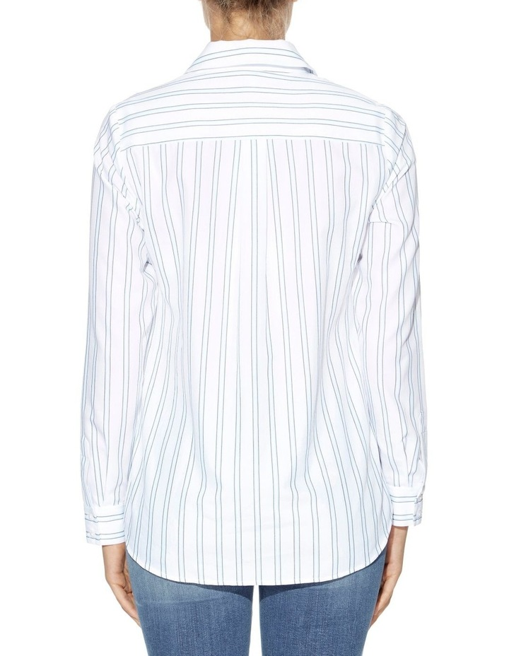 Keelin Tie-Front Striped Shirt image 2