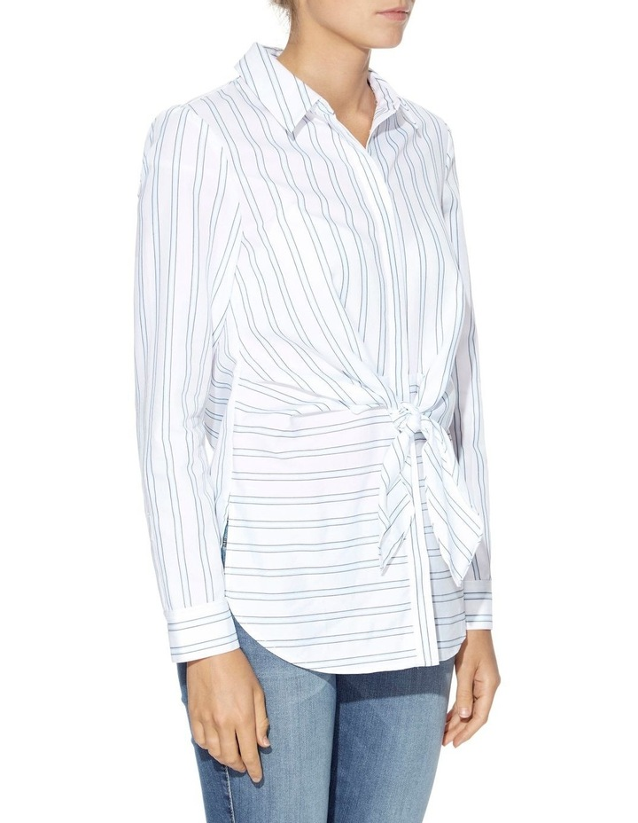 Keelin Tie-Front Striped Shirt image 3