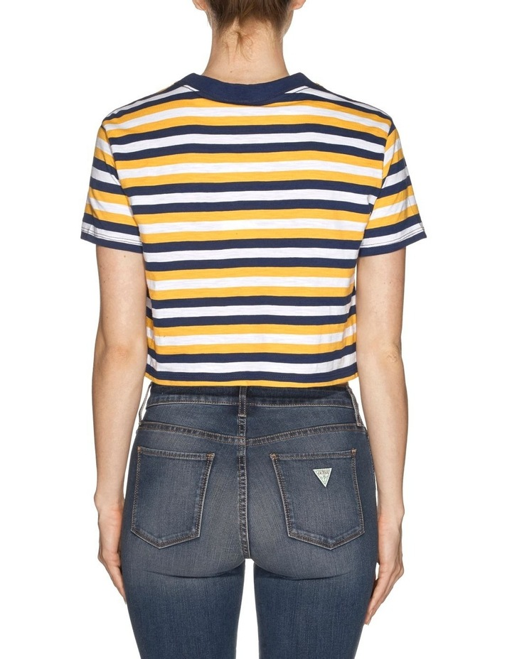 Short Sleeve Crop Stripe Tee image 3