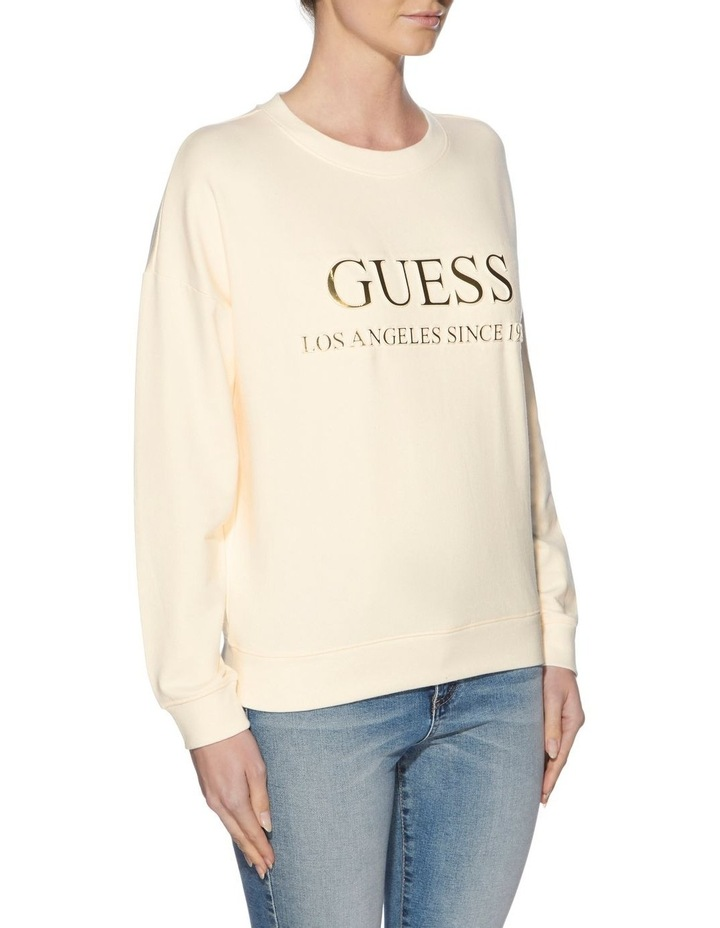Long Sleeve Gold Embossed Sweatshirt image 2