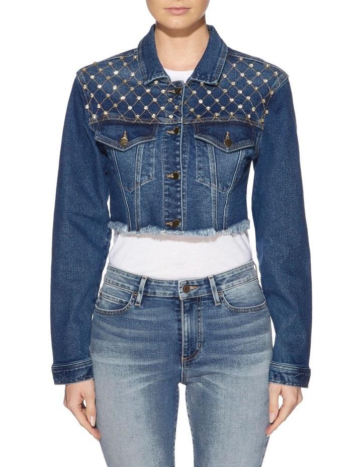 Diamante Cropped Jacket image 1
