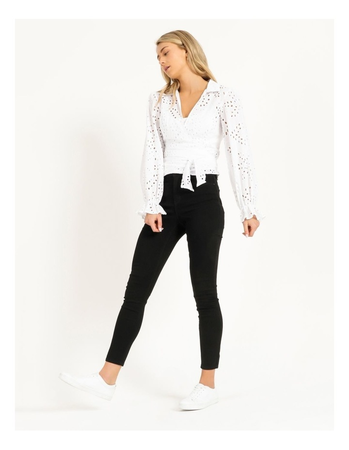 Long Sleeve Kamy Tie Front Top image 2