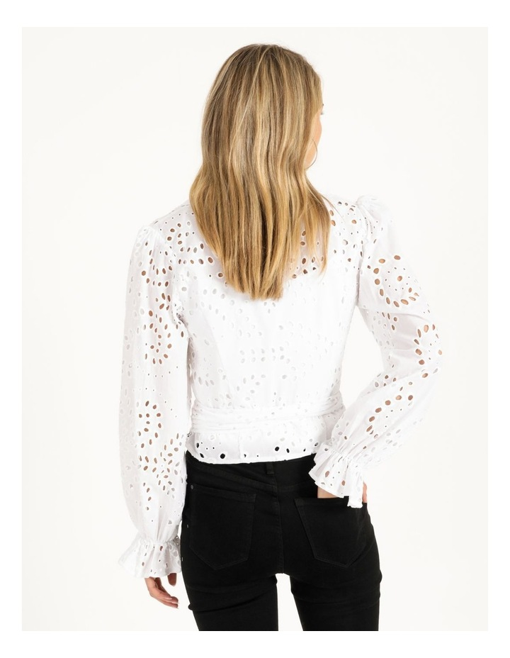 Long Sleeve Kamy Tie Front Top image 3