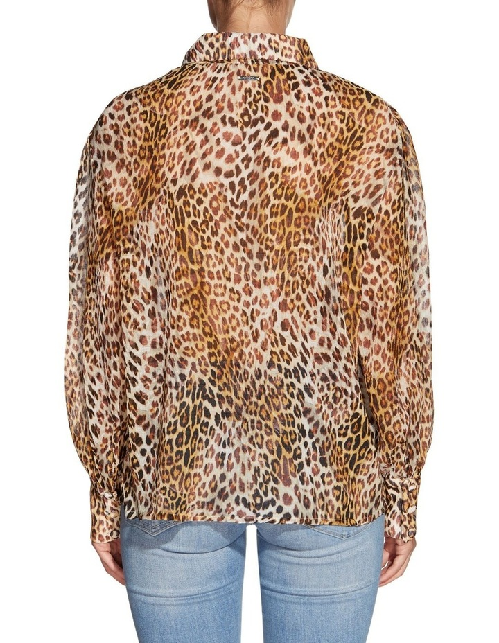 Long Sleeve Yora Button Up Top Ghost Leaf Leopard image 2