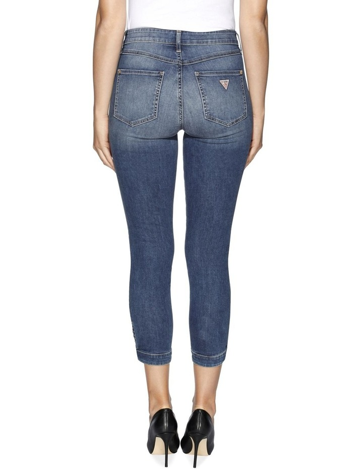 High Rise Tie Cropped Skinny Jeans image 2