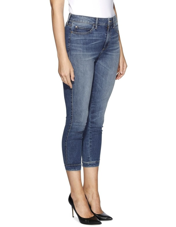 High Rise Tie Cropped Skinny Jeans image 3