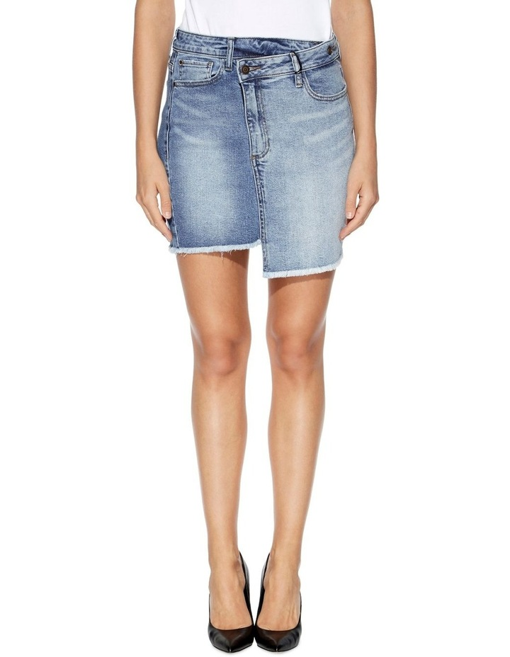 Rework Denim Bodycon Skirt image 1
