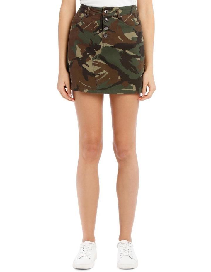 David Camouflage Mini Skirt image 1