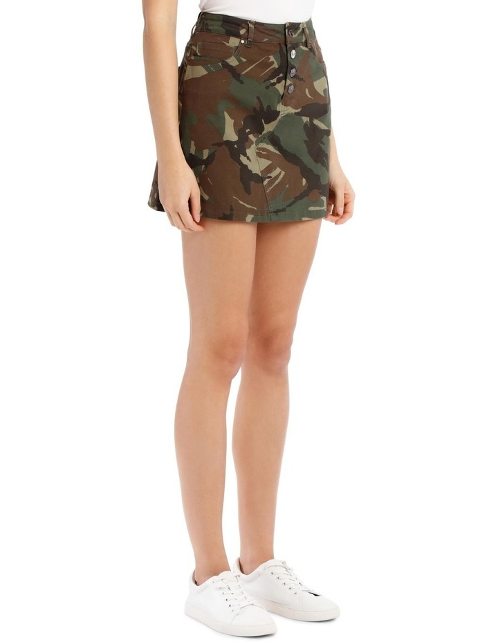 David Camouflage Mini Skirt image 2