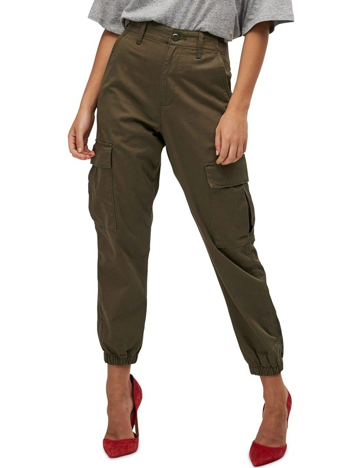 High Waisted Cargo Pants image 1