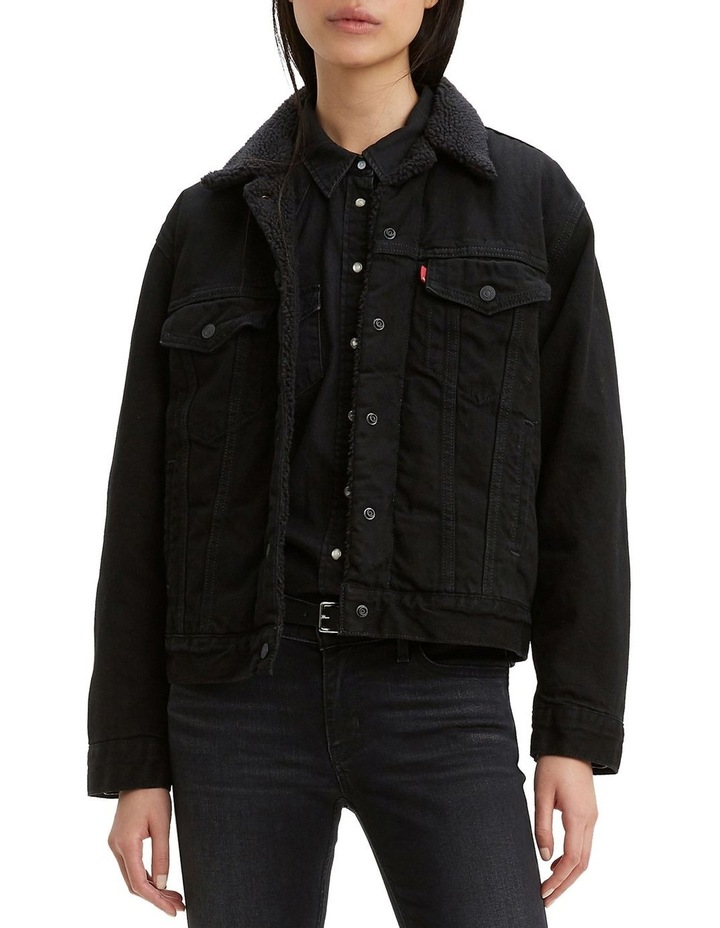 Ex-Boyfriend Sherpa Trucker Jacket image 1