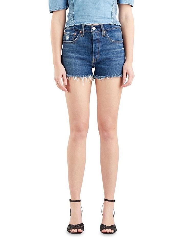 501 Original High Rise Jean Shorts Dark Denim image 1
