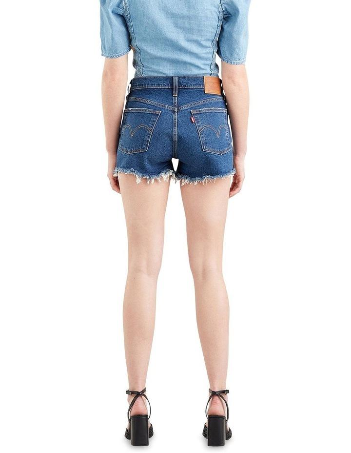 501 Original High Rise Jean Shorts Dark Denim image 2