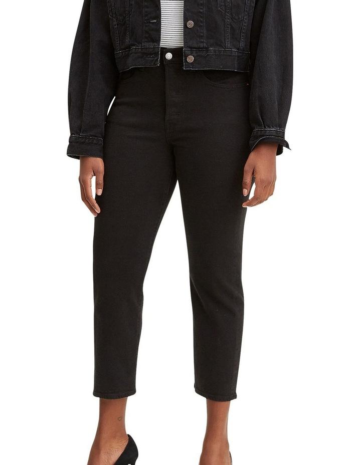 Wedgie Black Black Sprout Cotton Straight Leg Jean image 1