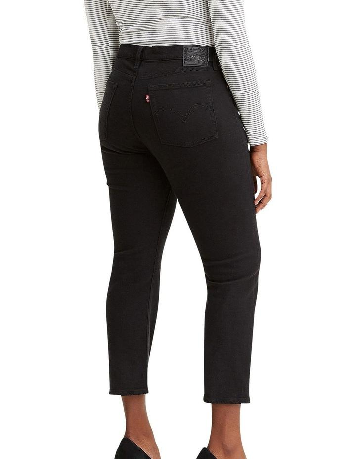 Wedgie Black Black Sprout Cotton Straight Leg Jean image 2