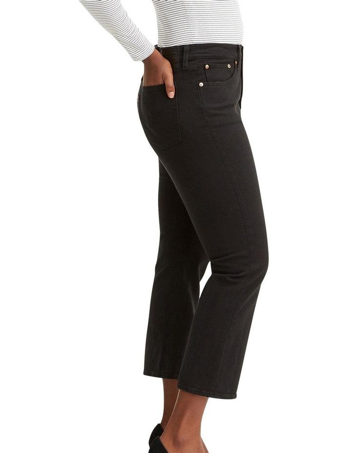Wedgie Black Black Sprout Cotton Straight Leg Jean image 3