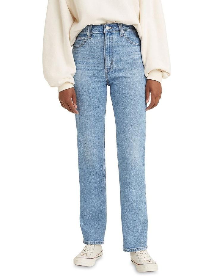 70s High Slim Marin Park Cotton Straight Leg Jean image 1