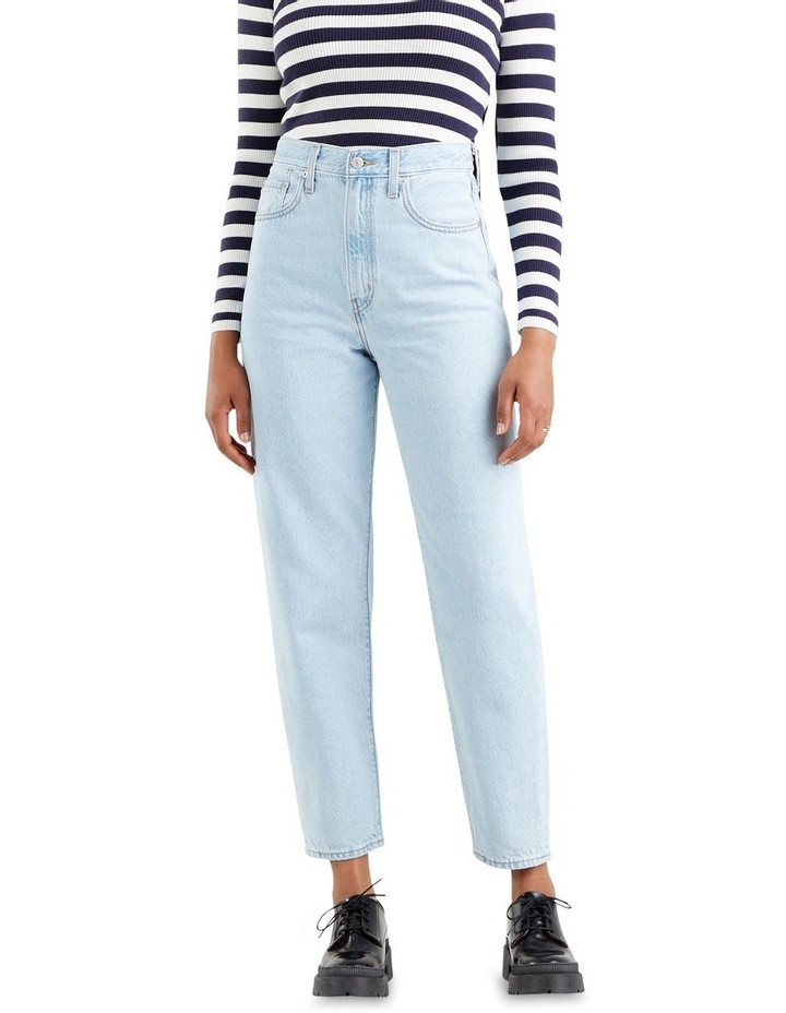 High Loose Taper Fit Love Is Love Mom Jean image 1