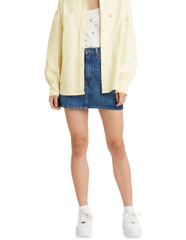 70s High Micro Mini Denim Skirt image 1