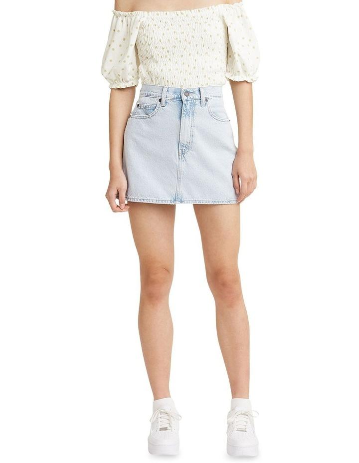 '70S High Micro Mini Denim Skirt image 1