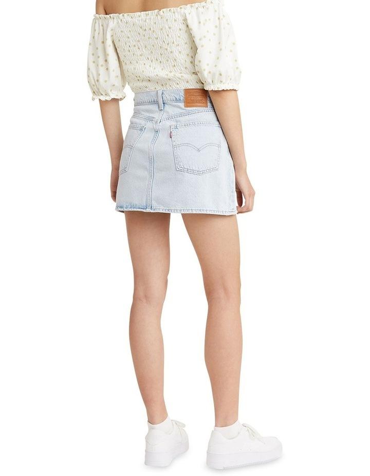 '70S High Micro Mini Denim Skirt image 2